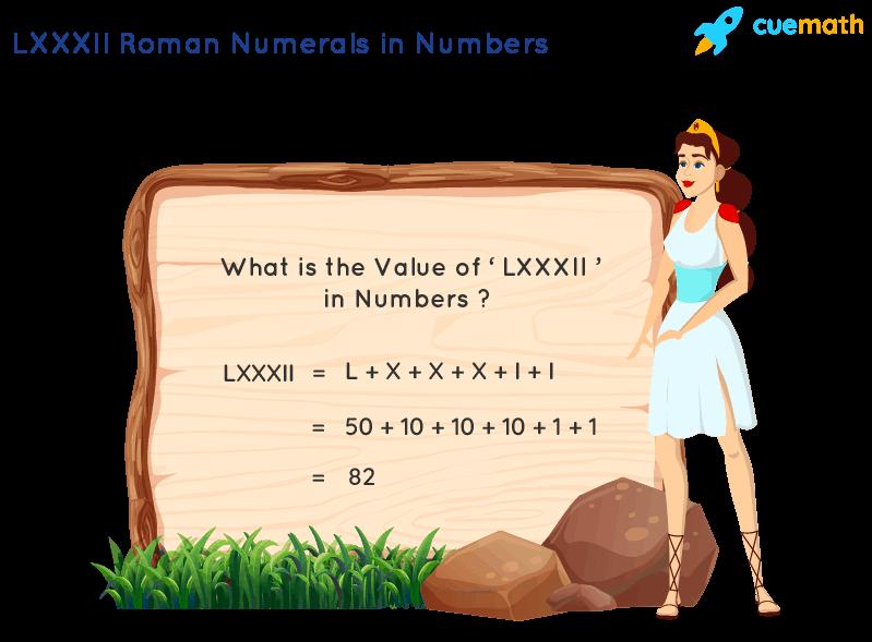 LXXXII Roman Numerals