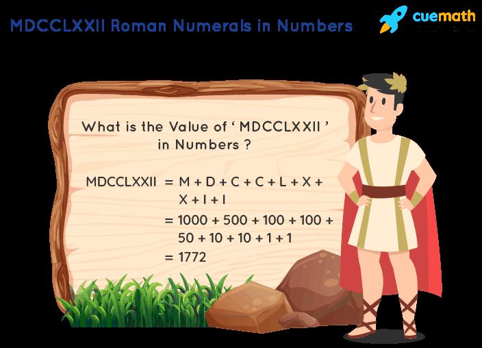 MDCCLXXII Roman Numerals