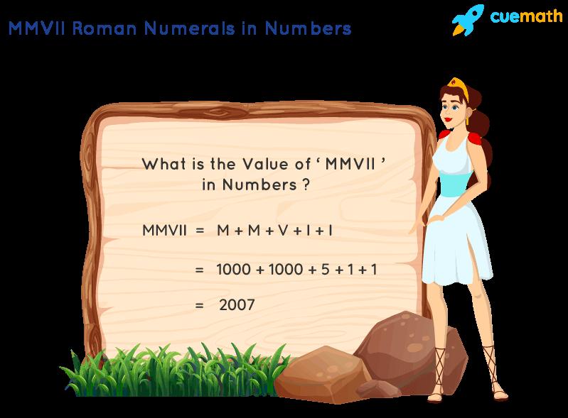 MMVII Roman Numerals