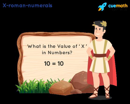 X Roman Numerals