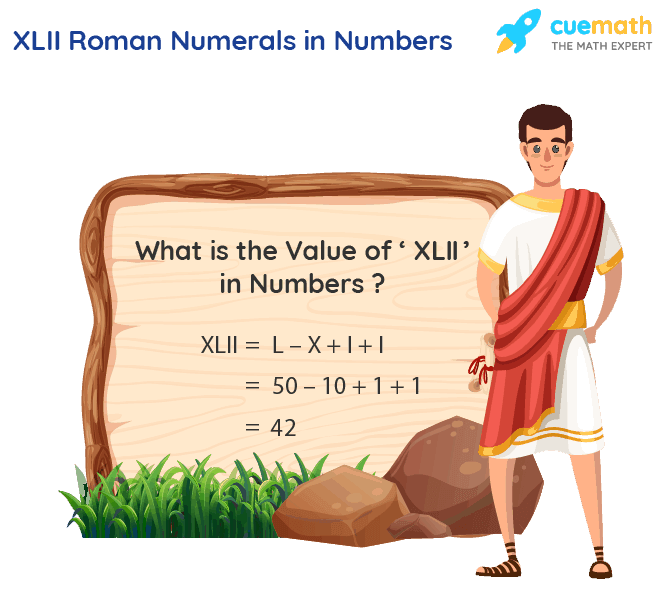 XLII Roman Numerals