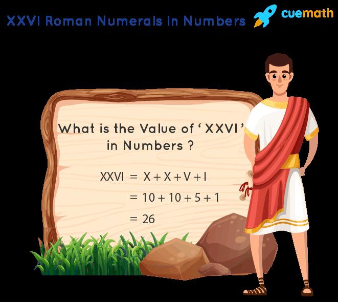 XXVI Roman Numerals
