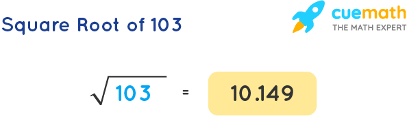 Square Root of 103