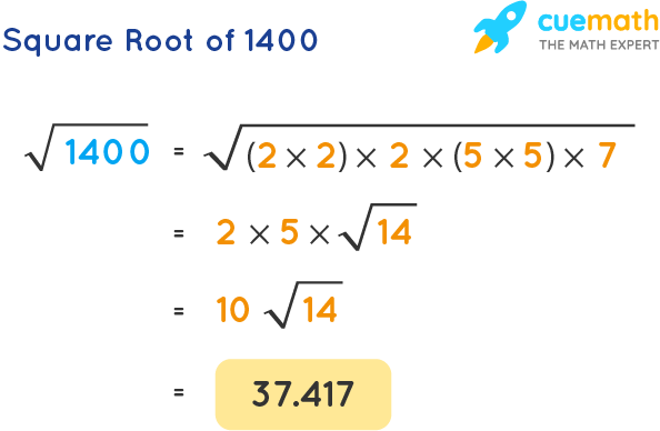 Square Root of 1400