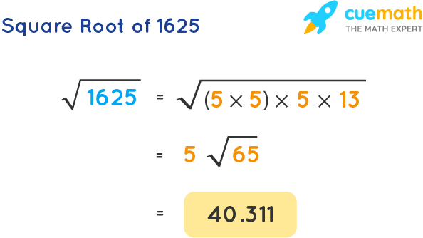 Square Root of 1625