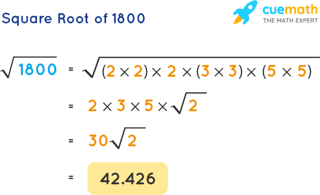 Square Root of 1800