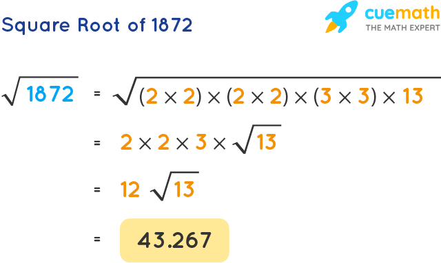Square Root of 1872