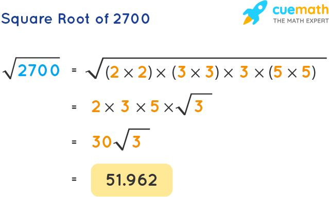 Square Root of 2700