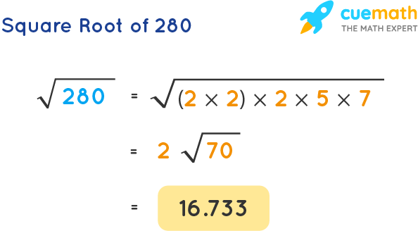 Square Root of 280