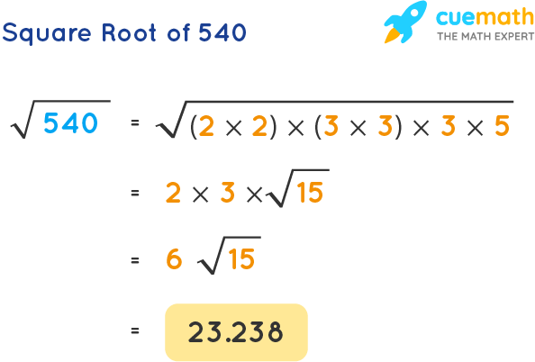 Square Root of 540