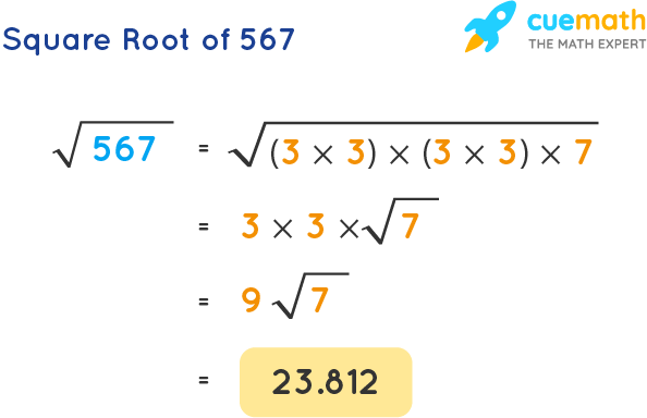 Square Root of 567