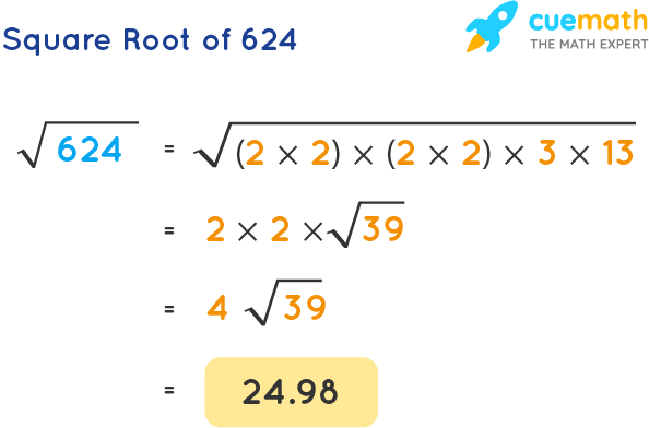 Square Root of 624
