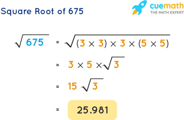 Square Root of 675