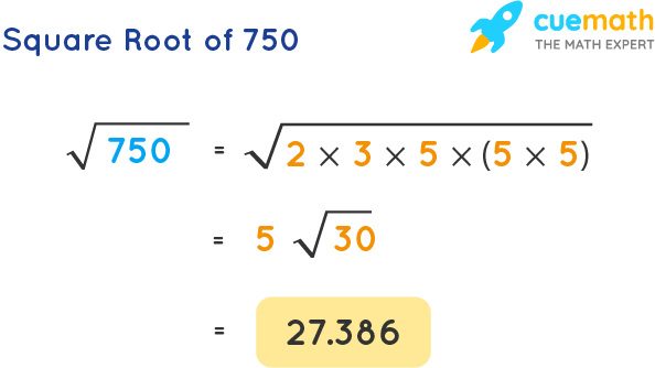 Square Root of 750