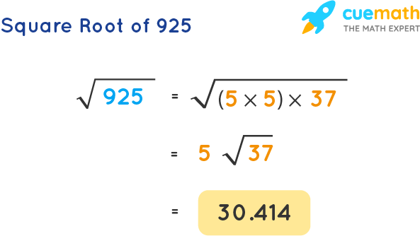 Square Root of 925