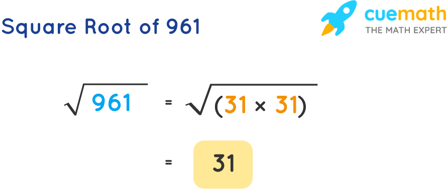 Square Root of 961