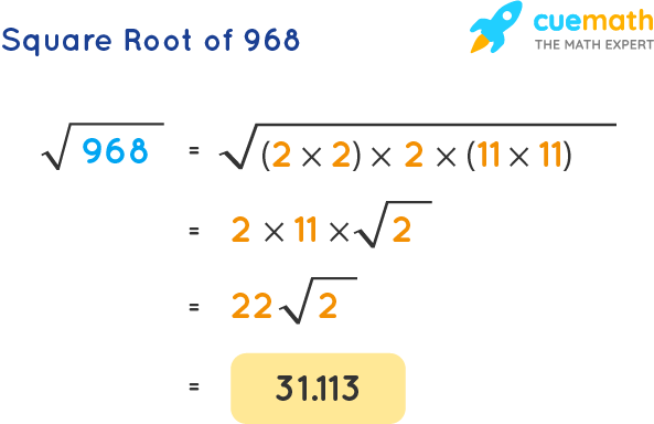 Square Root of 968